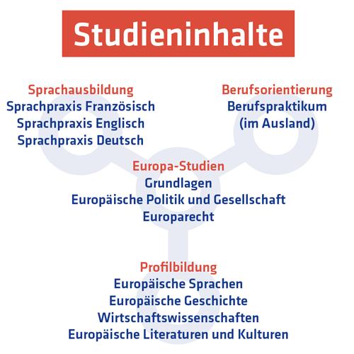 Studieninhalte Europäische Studien in Paderborn und Le Mans